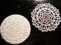 16 circulo con textura   Colgante circular con estrella