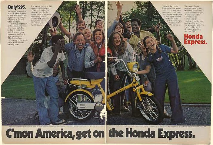 1978 Honda Express 1 - Honda Express Print Advertisement Get On - 1978 Honda Express 1