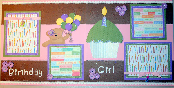 Birthday Girl Premade Scrapbook Pages