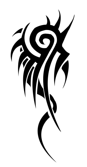 tribal dragon tiger. tattoo. tribal dragon
