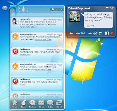 FishBowl and Blu - Desktop Based Facebook and Twitter Application