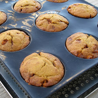 Here's the muffins in my Demarle Flexipan after the came out of the ...
