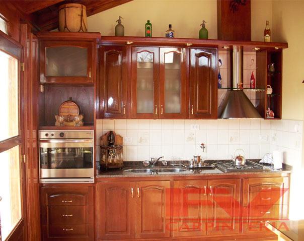 Bajo mesada y alacena de cocina pino macizo 160 mts combo for Mesada de madera para cocina