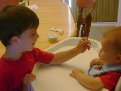 Spencer feeding Matthew