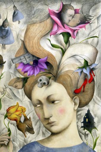 Ilustraciones para dejar volar la imaginación Ana_Juan.+1jpg