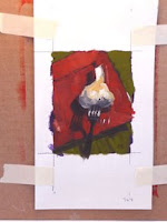 Forkful of Garlic, study, an original oil by Connie Kleinjans