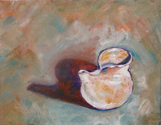 Connie Kleinjans: Original oil painting, Folded Pitcher, 8x10