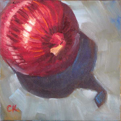 Connie Kleinjans, The Shadow Nose, 6x6 oil on canvas