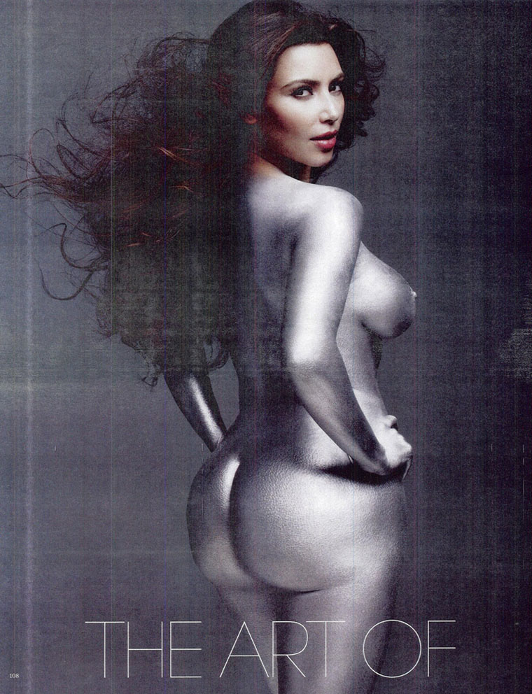 Kim kardashian naked big ass