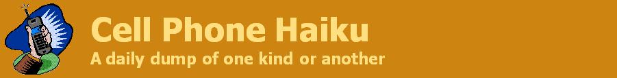 Cell Phone Haiku