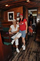 Con mi hija en el barco de Ernest en Cayo Hueso