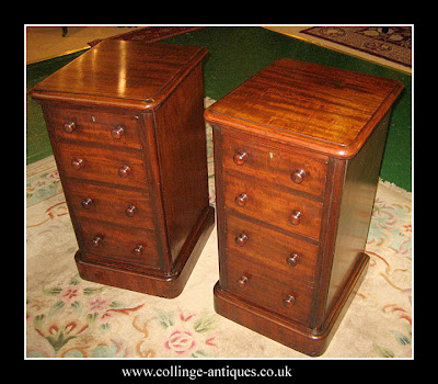 antique mahogany bedside cabinets
