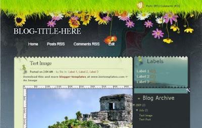 seabreeze blogger template