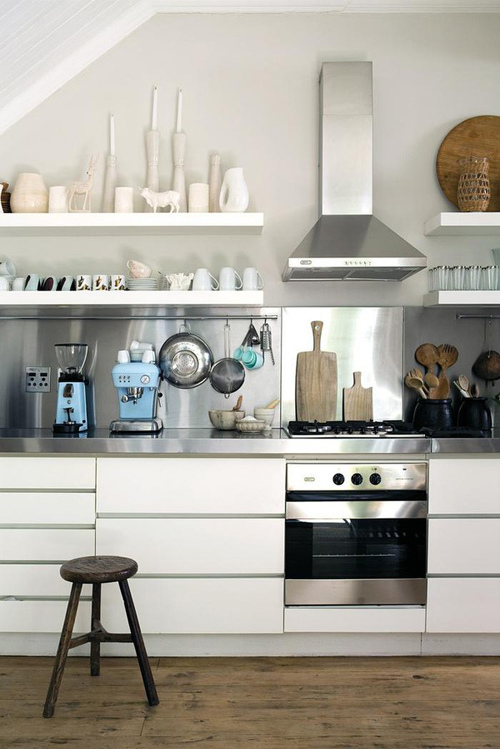 Stainless Steel Open Shelves for Kitchen