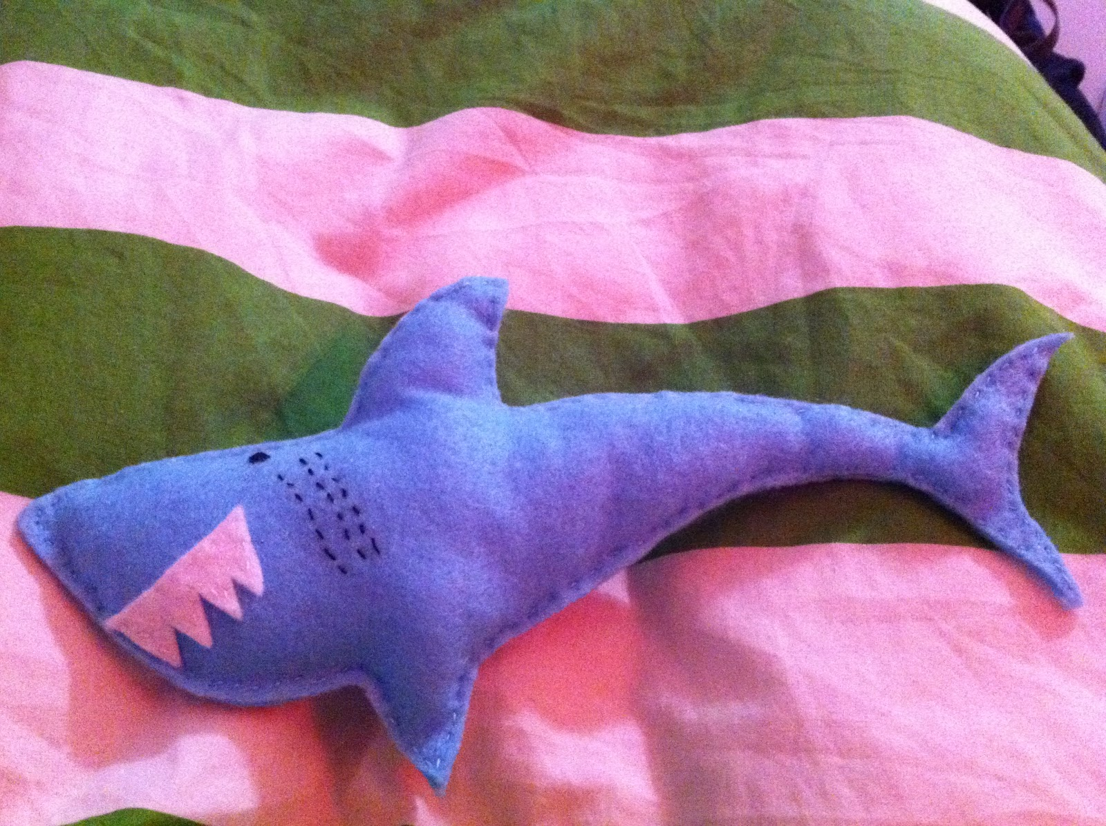 december 2010 a rosie outlook uk fashion and lifestyle blog this is bitey by the way the shark that tom made he sketched out a template and whipped him up in about 45 minutes so i guess we know who has the