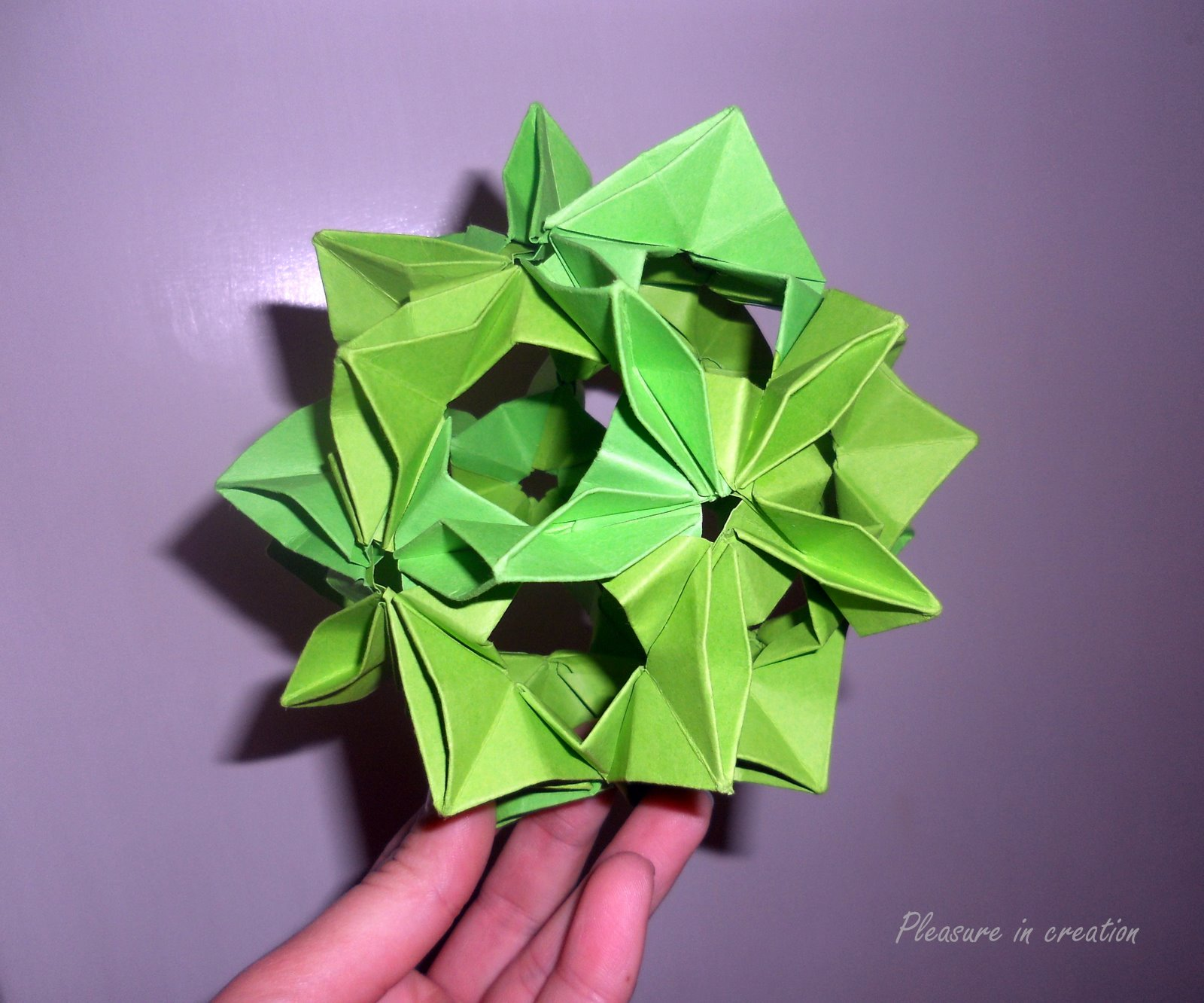 Its Also Called Kusudama But The Technique Of Making It Is Totally Different This Flower Ball Like Modular Origami Which Means You Make