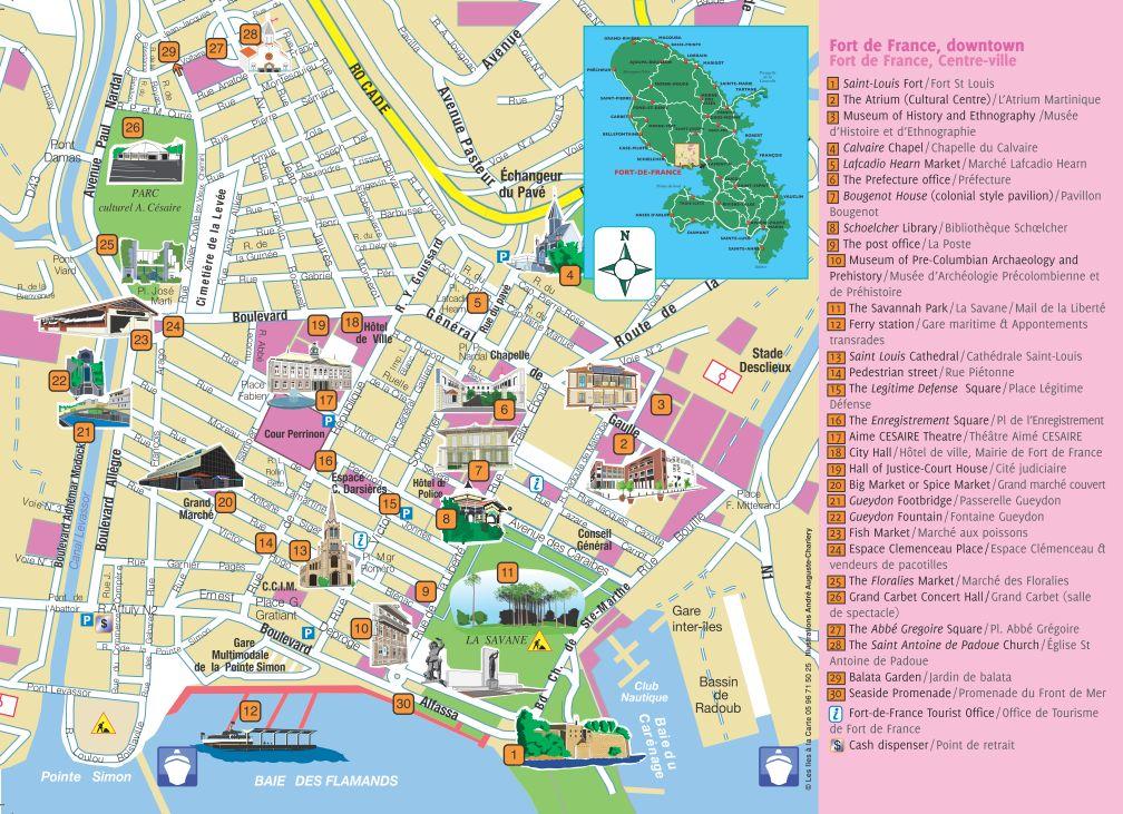 Plan de fort de france voyages cartes - Office de tourisme fort de france ...