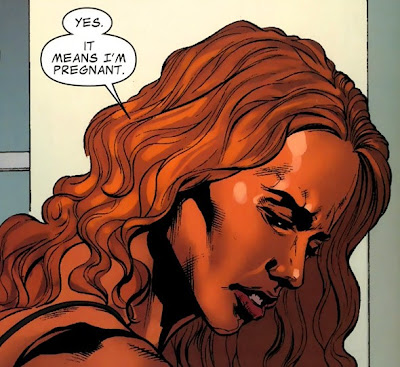 So, Tigra was having sex with the Skrull Hank Pym. Now she's pregnant.