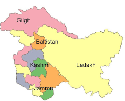 Provincial map of Kashmir