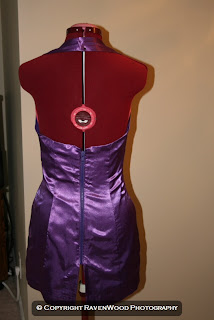 Goth Girl short purple dress
