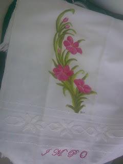 Toalha de Casa de Banho com flores