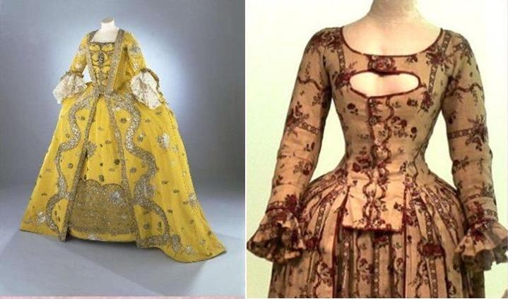 Vestidos de mujer del siglo xvii