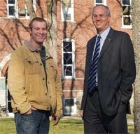 Evan Miller and President Jim Harder