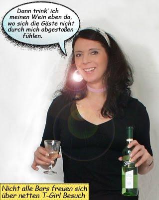 Svenja und ein Glas Blanchet