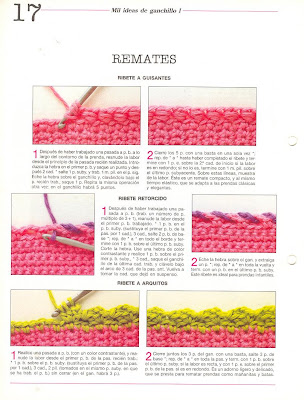 Remates laboresdeesther ganchillo y crochet for Remates a ganchillo