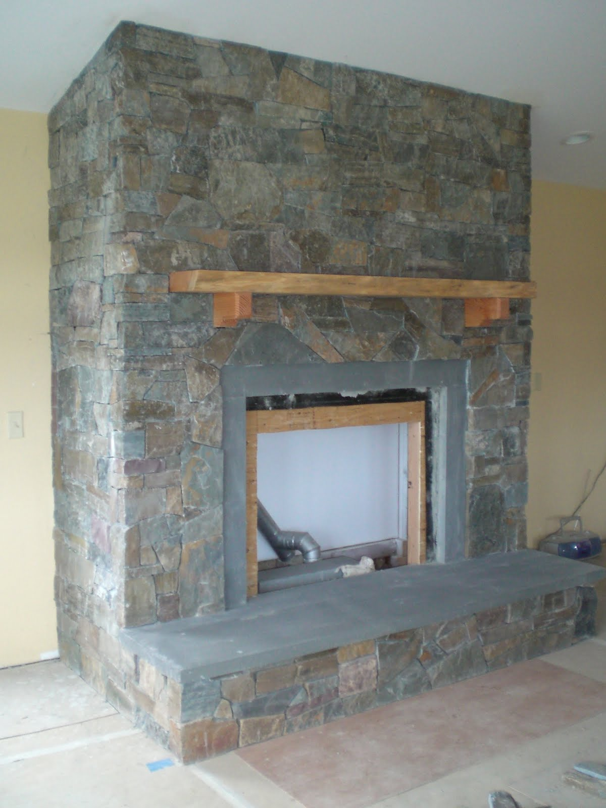 """The """"New"""" Manor Project: Fireplace facade finished!"""