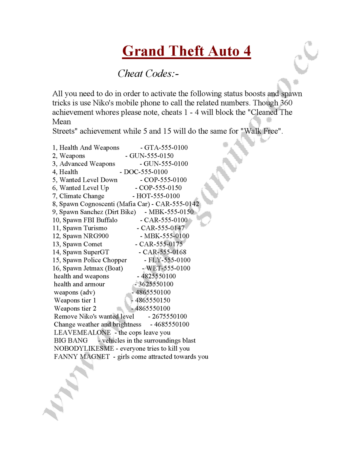 cheat codes for grand theft auto five for playstation 3