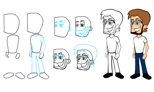 how to draw yourself as a cartoon step by step