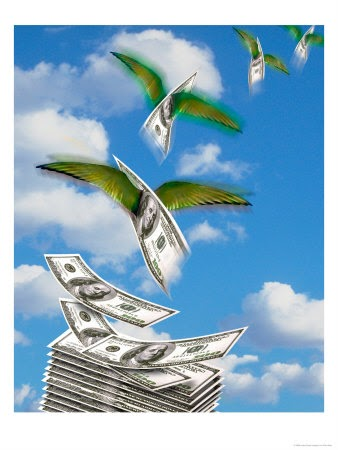 Image result for money flying away