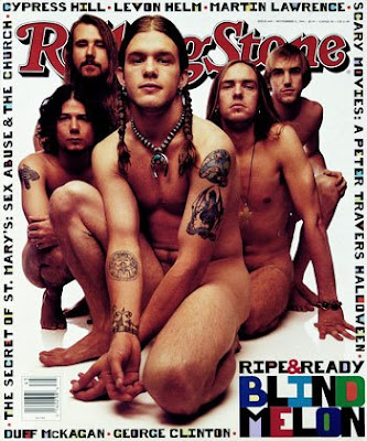 Blind Melon in rolling stone posture