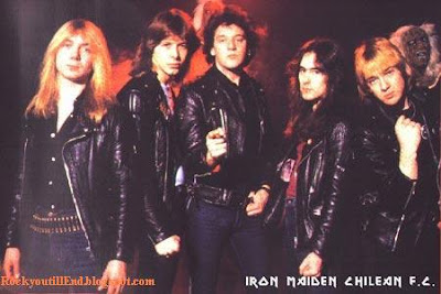 Paul with Iron Maiden