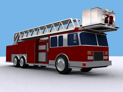 Fire Truck Tiller Birds Eye