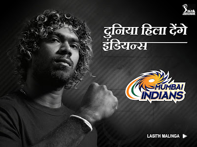 Wallpaper of Mumbai Indians Player Lasith Malinga