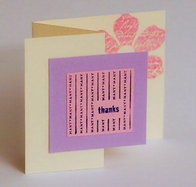 stampin up thank you mini card
