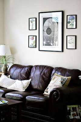 vintage style flower prints on wall