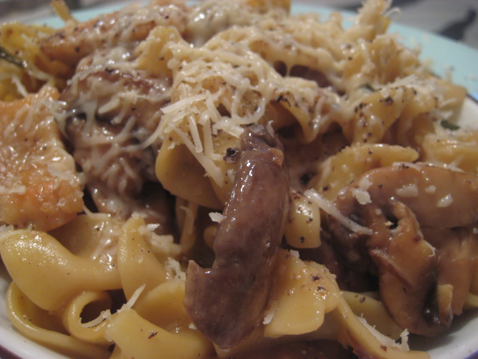 One Couple's Kitchen: Chicken & Mushrooms in Garlic White ...