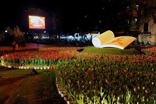 Hanoi flower festival conner  in New year