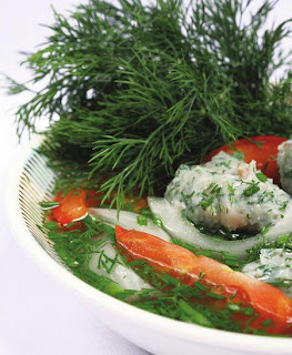 Thac lac fish soup with dill