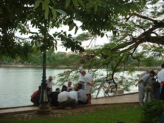 Chinese chess in Hoan Kiem lake - a feature culture of Hanoi people