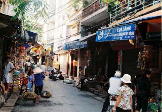 Gia Ngu street - a typical street of  Hanoi Old Quarter