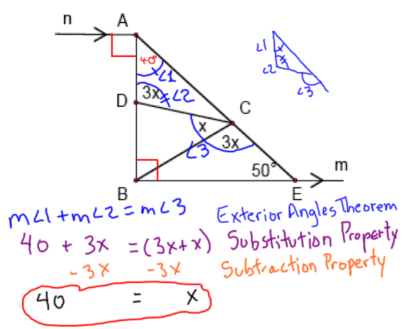 Journal 17 Exterior Angles Theorem West Side Geometry