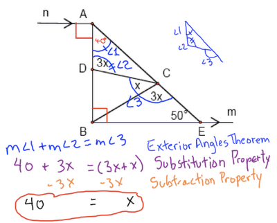 Journal 1 7 exterior angles theorem west side geometry - How to do exterior angle theorem ...