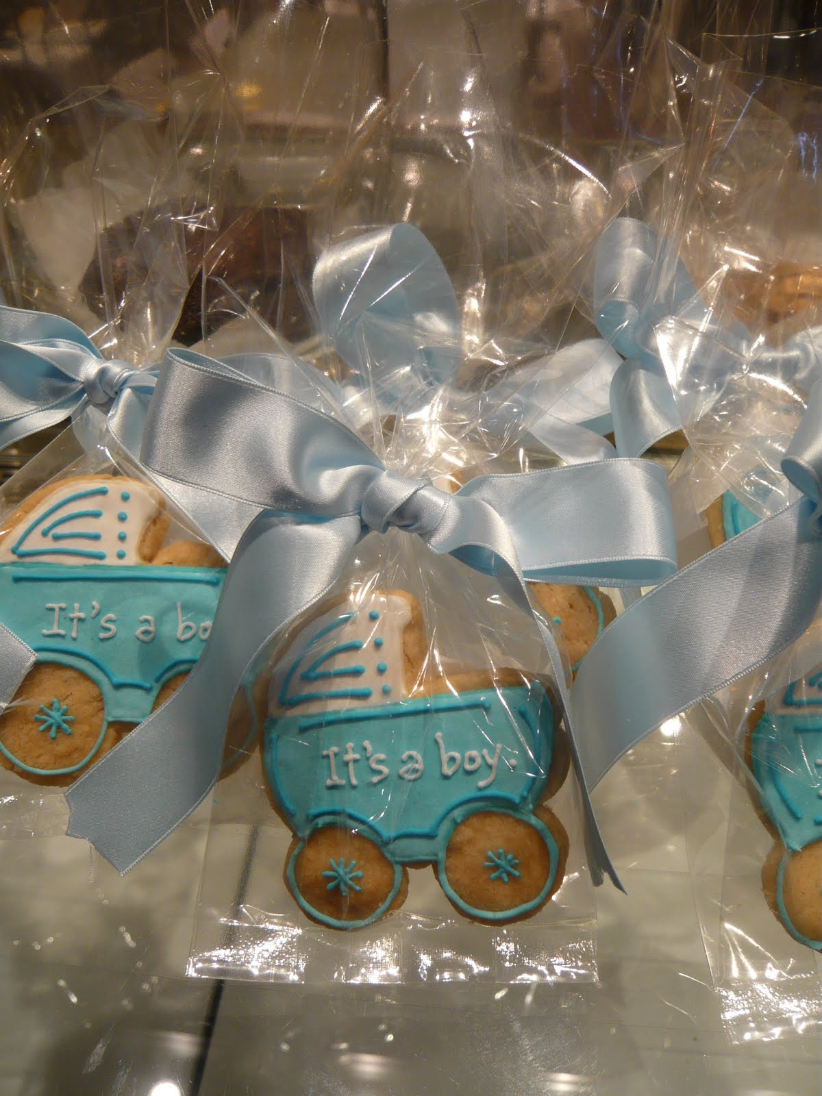 sift baby shower shortbread party favors