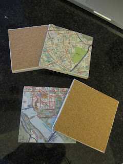 Map Coasters from Three Sisterz