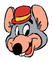 Chuck E Cheese cartoon drawing
