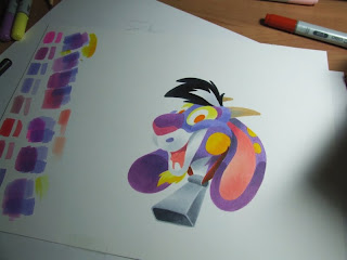 Cartoon goat copic markers